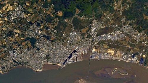 EN IMAGES. Nantes et Saint-Nazaire photographiées depuis l'espace par Thomas Pesquet