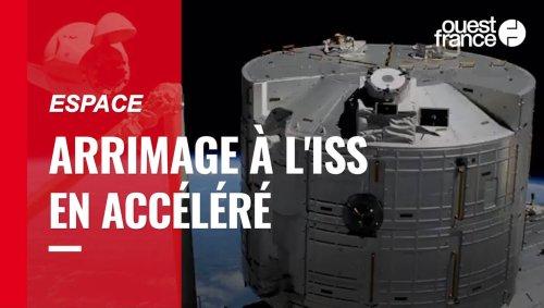 VIDÉO. L'incroyable timelapse de l'arrimage de la capsule SpaceX Crew Dragon à l'ISS