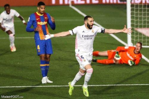 Le Real Madrid provisoirement leader après la victoire dans le Clasico contre Barcelone ! (résumé et notes)