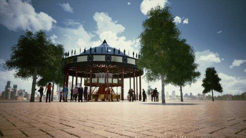 EN IMAGES. À Rennes, la place Sainte-Anne va retrouver son manège en novembre