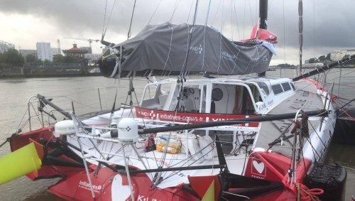Le voilier « Initiatives-cœur » est à quai à Nantes avant la transat Jacques-Vabre