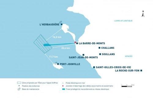 Le parc éolien Yeu-Noirmoutier change de type de fondations