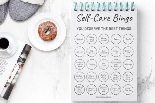Self-care Bingo: A Printable Game To Make Self-care Routine Fun Again