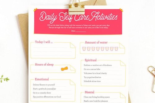 3 Tips To Start A Feel-good Self-care Routine +Free Printables-Our Mindful Life