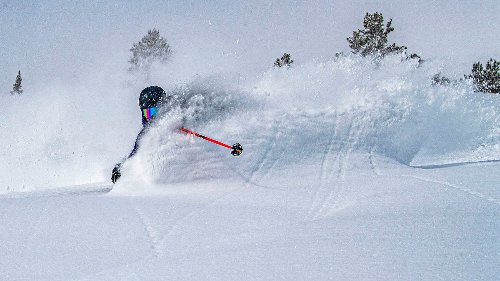 This Is One of the Best Powder Skiing Images I've Ever Seen