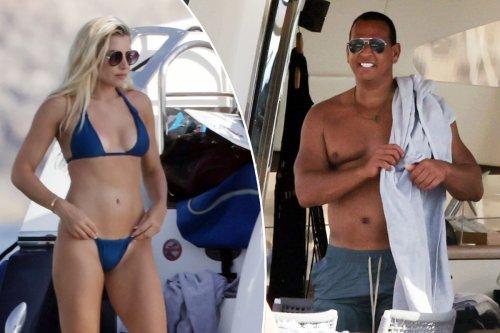 Alex Rodriguez cruises Ibiza with bikini-clad Melanie Collins and the Deckers