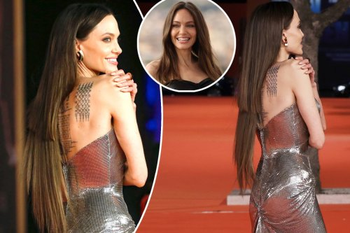 Angelina Jolie's uneven hair extensions go viral: 'Somebody getting fired'
