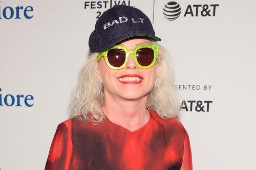 Debbie Harry, 75, dazzles in blood-red 'Psycho' dress