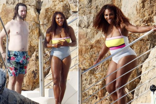 Serena Williams flaunts body in one-piece swimsuit