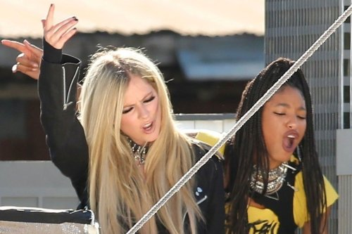 Avril Lavigne and Willow Smith team up and more star snaps