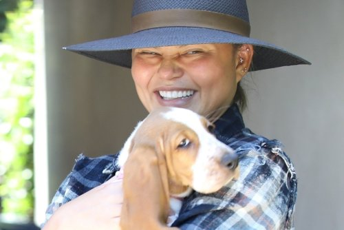 Chrissy Teigen hangs out with her new puppy and more star snaps