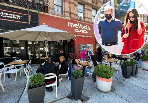 Prince Harry tries chicken and waffles for the first time at Melba's in Harlem
