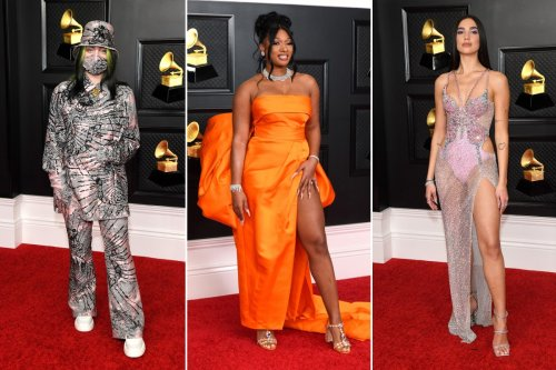 Grammys 2021 red carpet: See how celebrities dressed up for the show