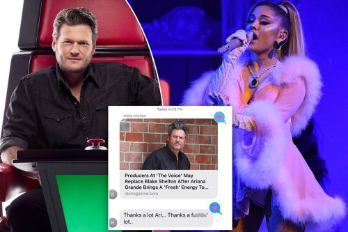 Blake Shelton texts Ariana Grande over rumors he's being replaced on 'The Voice'