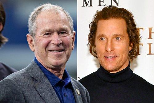 George W. Bush gives Matthew McConaughey political advice
