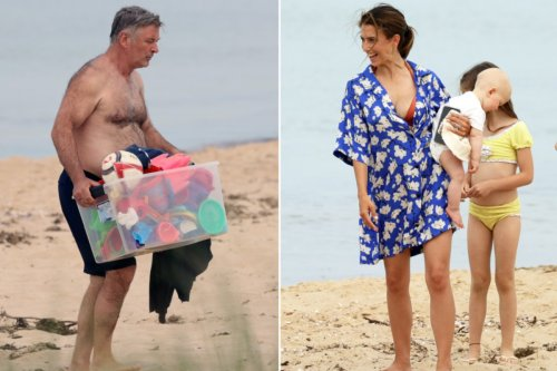 Alec Baldwin shleps kids' toys over Father's Day weekend in Sag Harbor