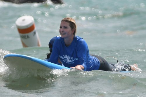 Ivanka Trump takes private surfing lesson with 3 kids on Mother's Day