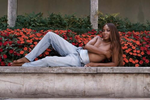 Naomi Campbell poses topless in new Kith for Calvin Klein campaign