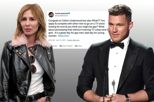 Carole Radziwill slams Colton Underwood for going on 'The Bachelor'