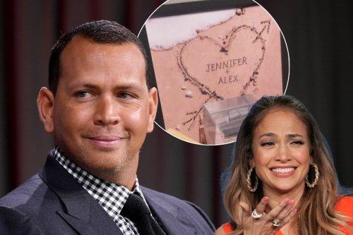Alex Rodriguez shows off his Jennifer Lopez shrine hours before split