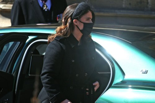 Princess Eugenie steps out for Prince Philip's funeral after giving birth