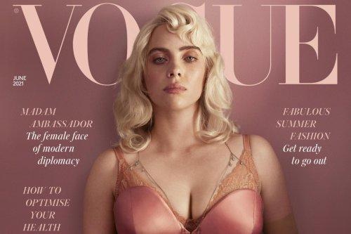 Billie Eilish showed off her secret hip tattoo in British Vogue