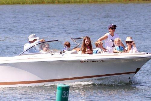 Baldwin family beats the heat with a Montauk boat ride