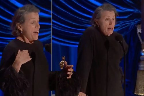 Why Frances McDormand howled like a wolf onstage at the 2021 Oscars