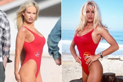 Lily James is dead ringer for Pamela Anderson's 'Baywatch' character