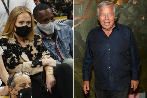 Adele and boyfriend Rich Paul attend Robert Kraft's birthday party