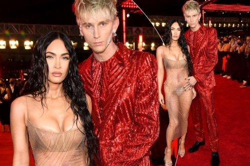Megan Fox bares it all on VMAs 2021 red carpet with Machine Gun Kelly