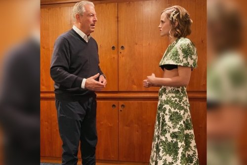 Emma Watson wears bra-baring outfit to interview Al Gore