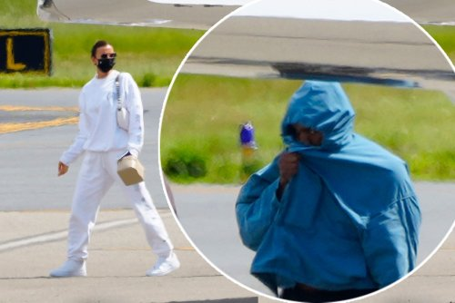 Kanye West and Irina Shayk return to US together after romantic French trip