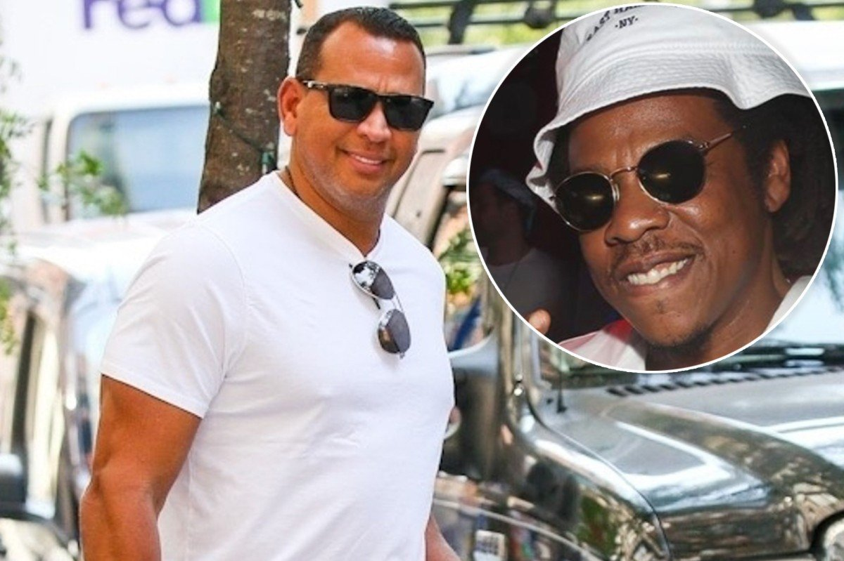 EXCLUSIVE: Alex Rodriguez chills with Jay-Z while surrounded by 'bevy of beauties'