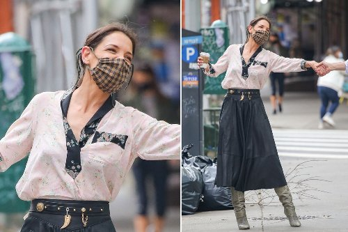 Katie Holmes dances in the streets and more star snaps