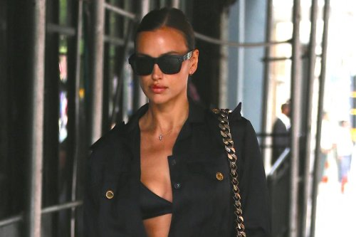 Irina Shayk steps out in plunging jumpsuit after trip with Kanye West