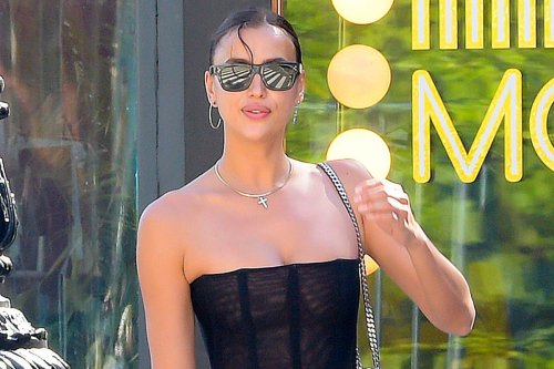 Irina Shayk makes 'emotional' speech at pal's party after Kanye trip
