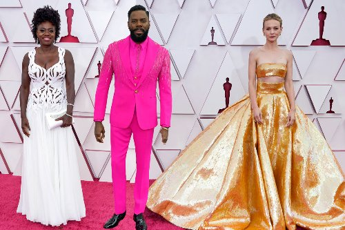 Oscars red carpet 2021: See this year's celebrity fashion
