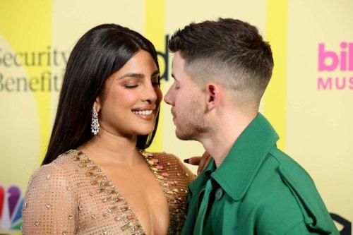 Nick Jonas and Priyanka Chopra get cozy on BBMAs 2021 red carpet