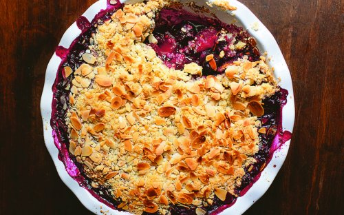 You'll Want to Indulge in Nigella Lawson's Berry Delicious Cherry and Almond Crumble