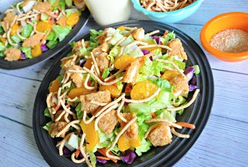 Copycat Applebee's Oriental Chicken Salad Is Hands Down the Best Crispy Chicken Salad In Life