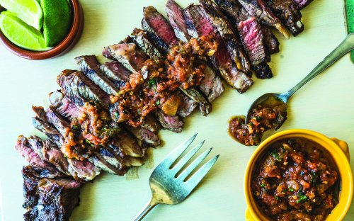 Parade Chef Jon Ashton Shares a Winning Steak With Roasted Salsa for Father's Day