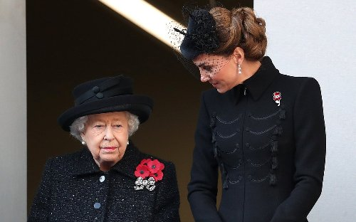 Kate Middleton Wears Queen Elizabeth's Necklace to Prince Philip's Funeral