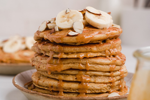 These Gluten-Free Almond Butter Banana Pancakes Are Almost Too Good to Be True