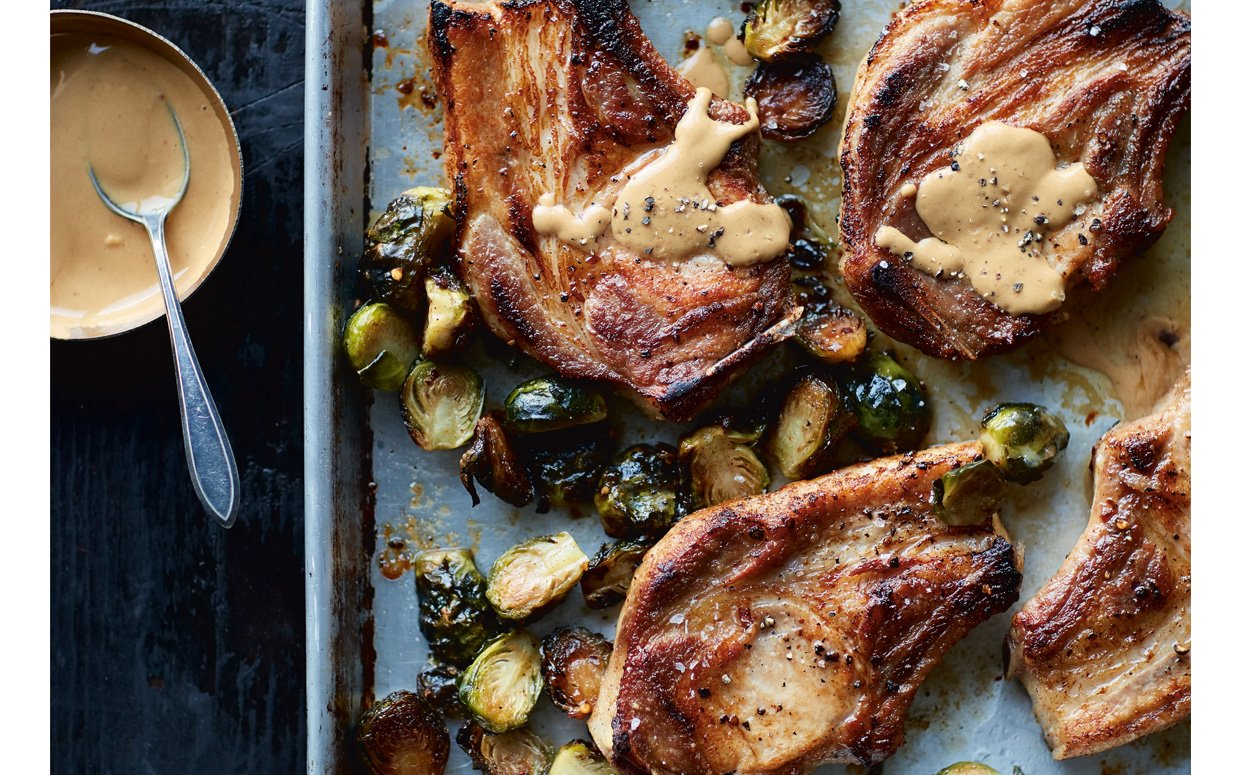 Alex Guarnaschelli's Sheet Pan Pork Chops Are What You Need This Fall