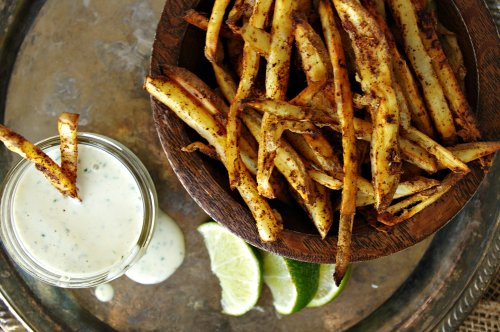 You Can't Have Mexican Street Fries Without Cilantro Lime Salsa Verde Ranch