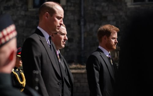 Prince William and Prince Harry Walk Behind Prince Philip's Coffin Evoking Memories of Princess Diana's Funeral