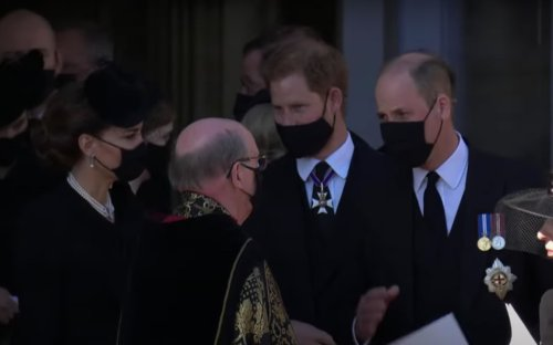 Prince Harry Reunites with Kate Middleton and Prince William After Grandfather Prince Philip's Funeral