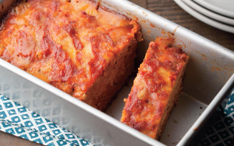 Slow Cooker Chicken Parmigiana Meatloaf