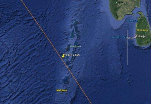 I detriti del Razzo Cinese sono atterrati nell'oceano indiano